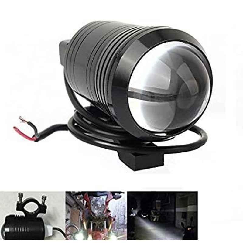AOW U1 LED Motorycle Fog Light Bike Projector Auxillary Spot Beam Light (Black, 1 Pc) for Honda Dio 110 cc BS4