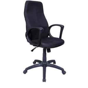 Caddy PU Leatherette Black Adjustable Office Chair with Back Support, DM 102