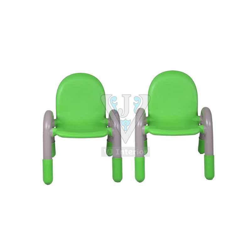 VJ Interior Anti Static Green The Chico Engineering Plastic Kids Chair, VJ-0224(B)