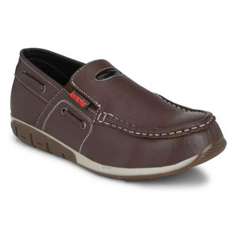 Kavacha S68 Leather Steel Toe Brown Safety Shoes, Size: 9
