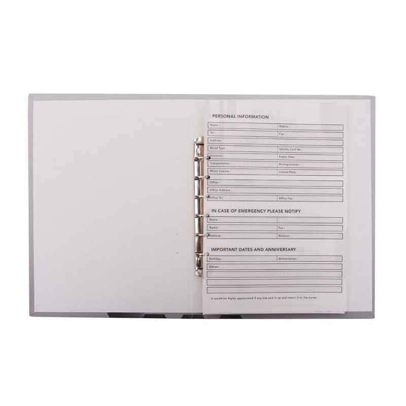 Stolt Fine Grey 120 Pages Business Diary with Refillable Pages