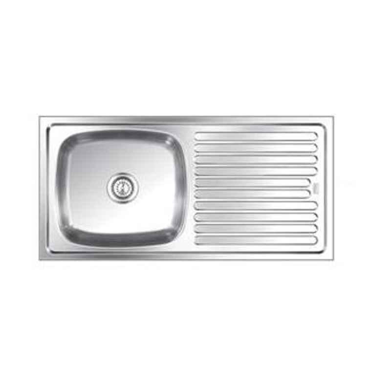 Nirali Elegance Anti Scratch Finish Kitchen Sink, Size: 1040x510 mm