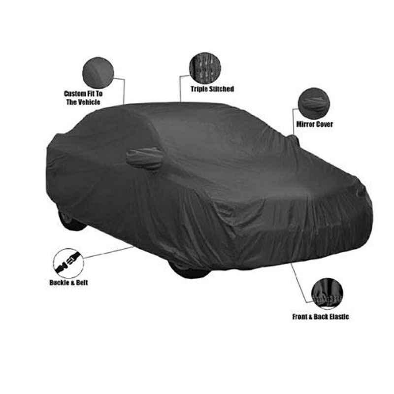 AutoPop Matte Black Water Proof Car Cover for Honda CRV