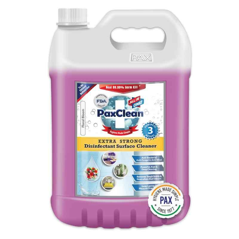 Paxclean All In One 5L Floral Bloom Extra Strong Disinfectant Surface Cleaner