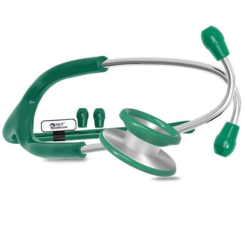 MCP Classic Stainless Steel Green Dual Head Stethoscope, QF-5TO1-YNTP