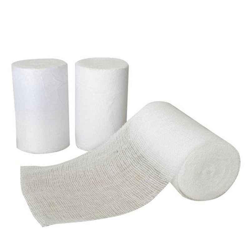 JE 10cmx3m White Cotton Roller Bandage (Pack of 10)