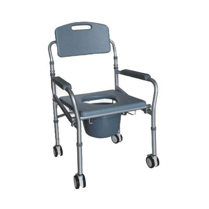 Easycare 100kg Lightweight Aluminum Commode & Shower Wheelchair, EC697L