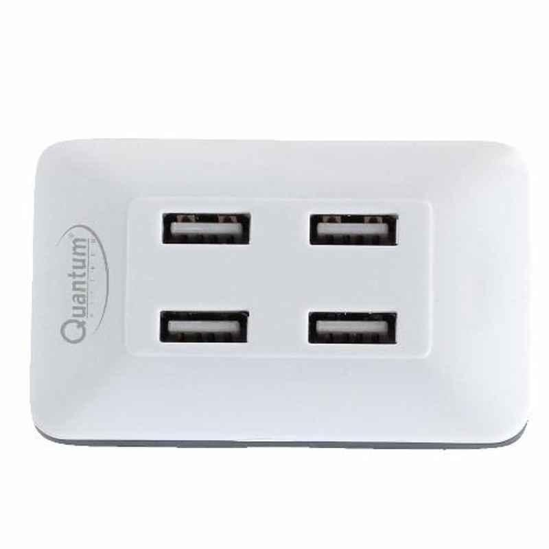 Quantum QHM6633 4 Port White Hi-Speed USB Hub (Pack of 3)