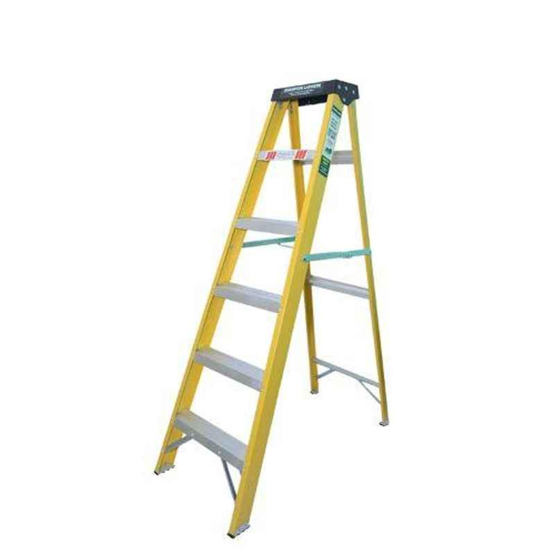 Champion 5.8ft 150kg Fibreglass 6 Step Electric Shock Proof Foldable Ladder with Tool Tray