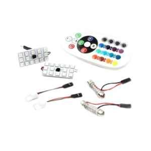 Love4ride 2V T10 5050 15 SMD Auto Remote Control RGB LED Lamp