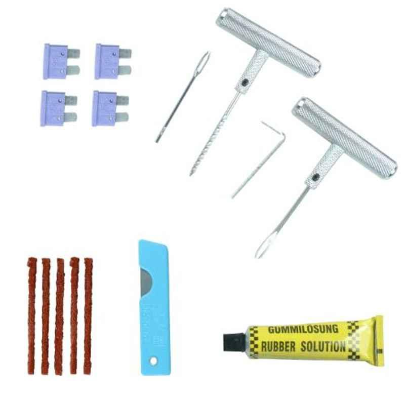 Tirewell TW-5004 Universal Portable Flat Tyre Puncture Kit for Car & Bikes