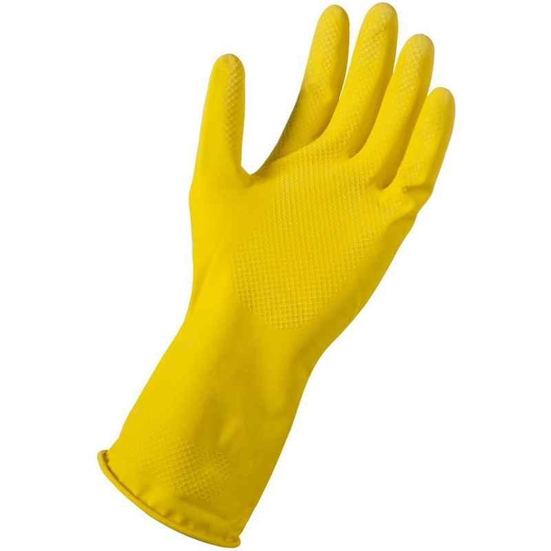 Surf 621U-45 Yellow Rubber Hand Gloves (Pack of 12)