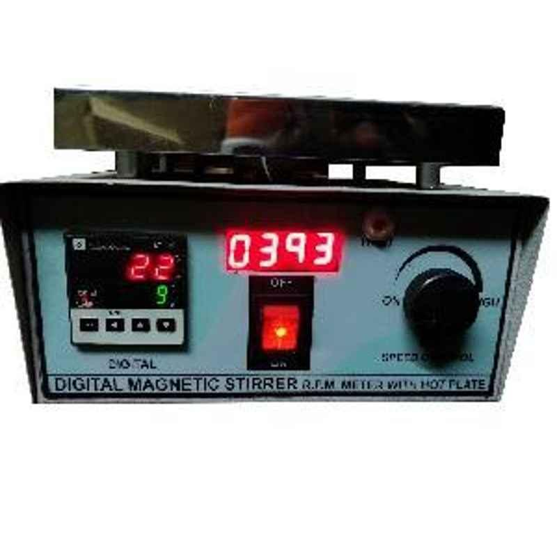 SESW 2 Ltr Capacity Digital Magnetic Stirrer with Steel Hot Plate