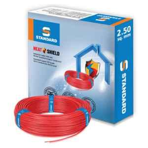 Standard 2.5 Sq mm 90m Red PVC FR Wire by Havells, WSFFDNRA12X5