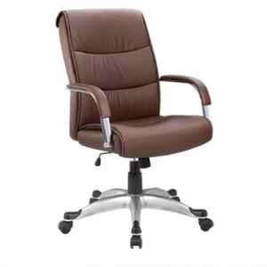 Evok Plush Leatherette Brown Executive Office Chair, FFOFOCALMTBR11655M