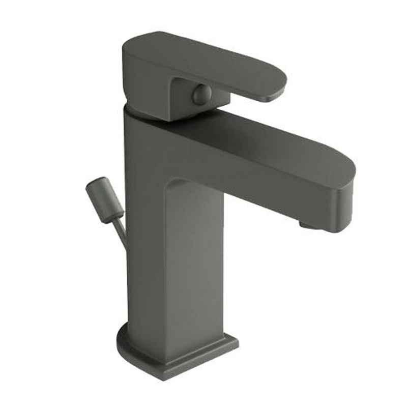 Jaquar Alive Graphite Single Lever Basin Mixer with 450mm Braided Hose, ALI-GRF-85051B