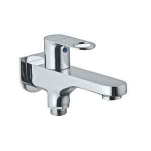 Jaquar Ornamix Prime Stainless Steel Quarter Turn 2 Way Bib Cock Tap with Wall Flange, ORP-SSF-10041PM
