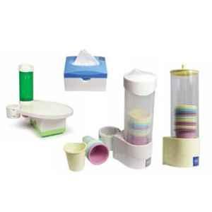 Oro DCT White 3 In 1 Tissue, Tray & Cup Dispenser Set