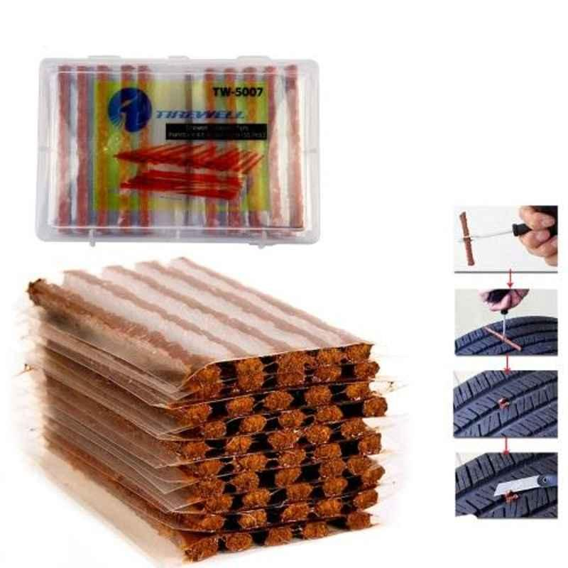 Tirewell TW-5007 50 Pcs Tubeless Tire Puncture Sealing Rubber Strips Set for Cars & Bikes