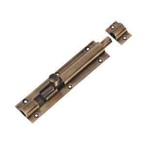 Smart Shophar 8 inch Brass Antique Plain Tower Bolt, SHA10TW-PLAN-AN08-P1