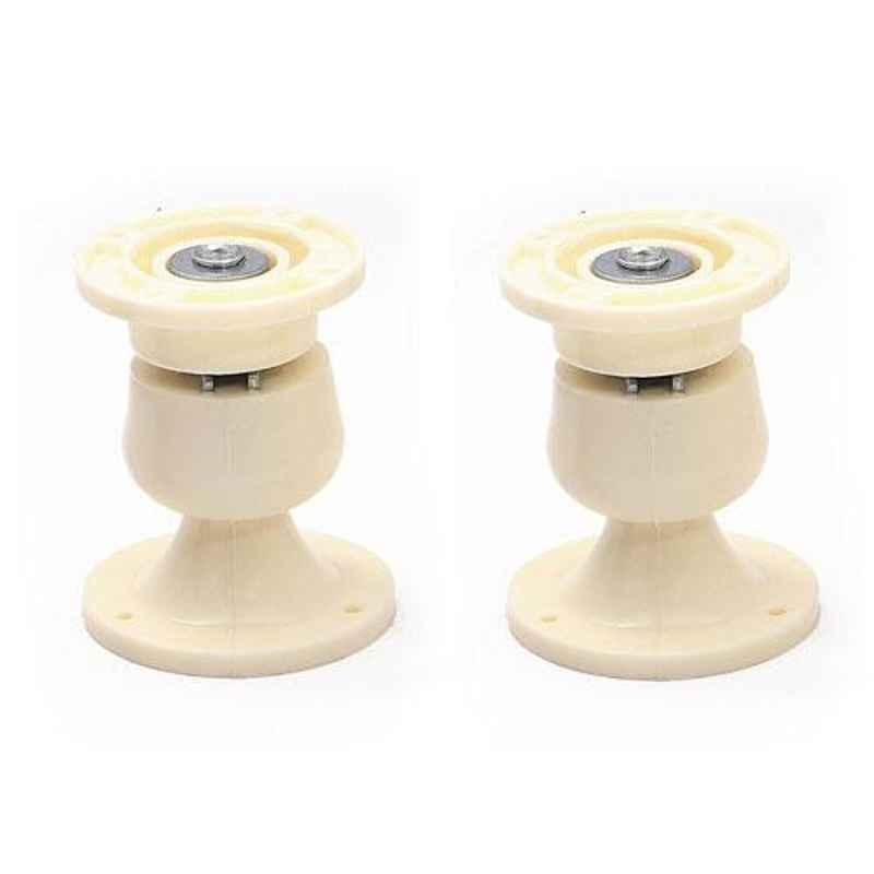 Nixnine Plastic Ivory Magnetic Door Stopper, NO-5_IVR_2PS (Pack of 2)
