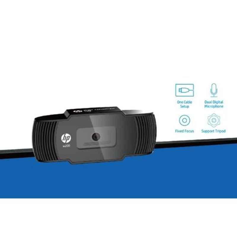 HP W200 720P 30FPS Webcam, 20L58AA