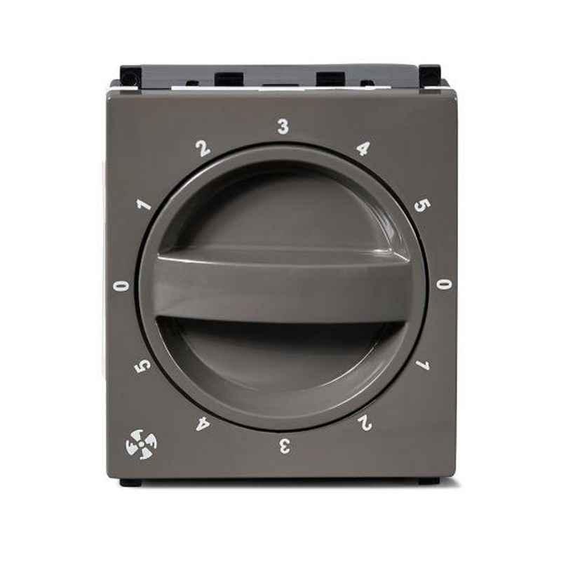 Schneider Zencelo 100W 2 Module Dark Grey Fan Regulator, IN84SFR(BZ) (Pack of 5)