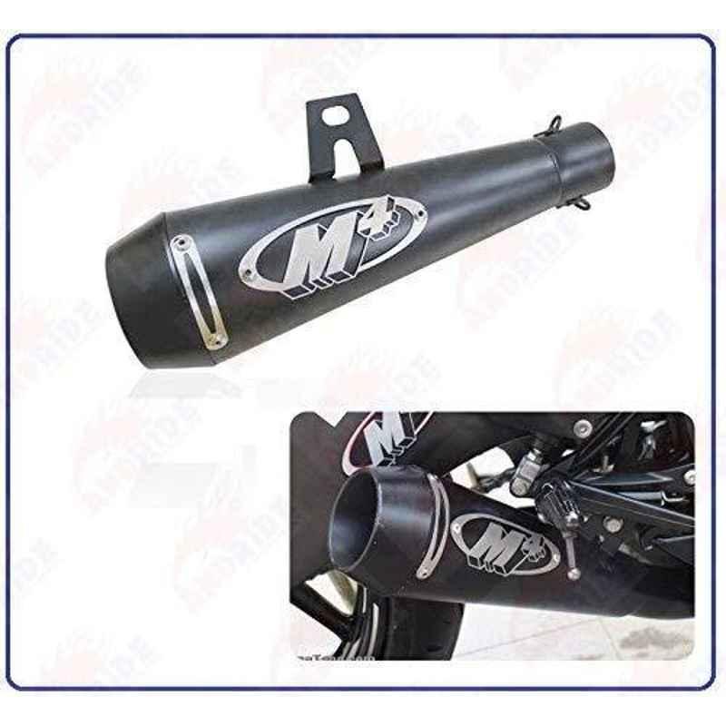 RA Accessories Black M4 with Mesh Silencer Exhaust for Bajaj Pulsar DTSi