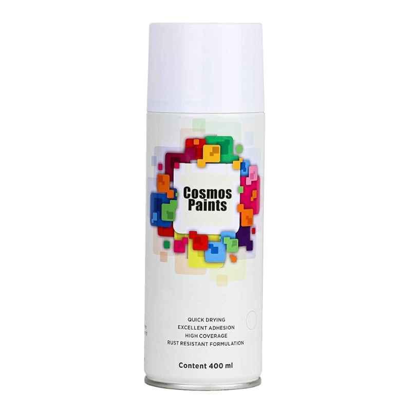 Cosmos 400ml Matt White Spray Paint, 1007