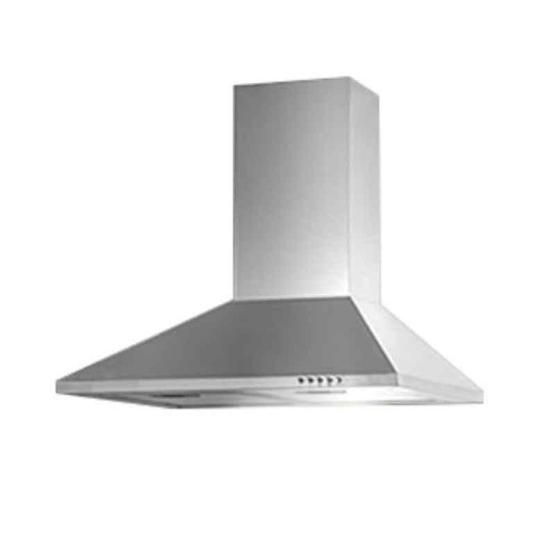 Kaff Base LX 60 SS 60cm 700Nmᶾ/h Aluminum Filter Stainless Steel Finish Chimney
