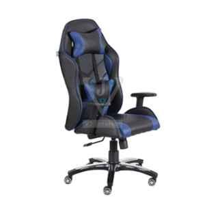 VJ Interior 21x19 inch Black & Blue Leatherette Gaming Any Time Chair, VJ-2003
