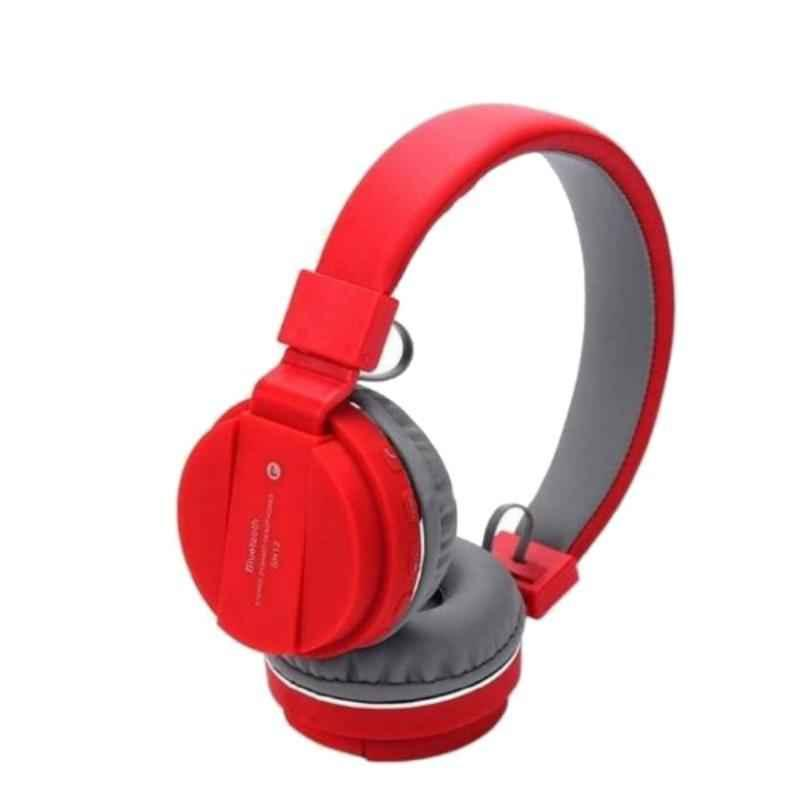 Immutable SH12 Red Bluetooth Foldable On-Ear Headphone with Mic, IMT-54129