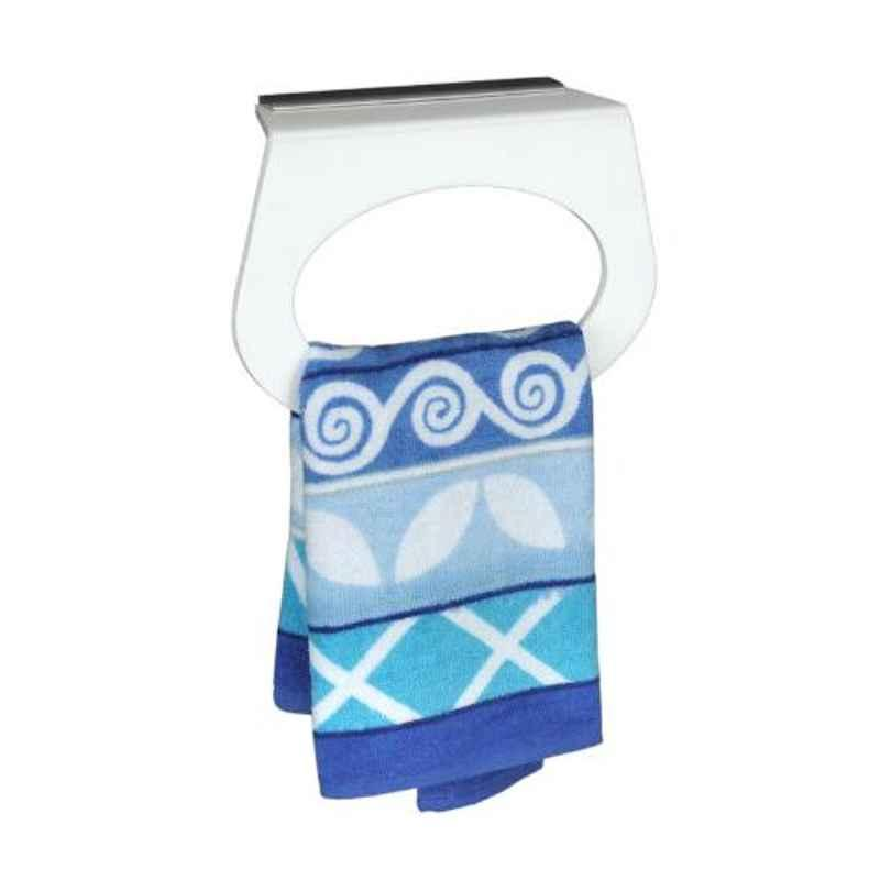 Axtry 8 inch Wall Mounted Acrylic White Capsule Shaped Towel Holder