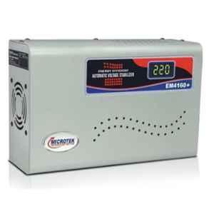 Microtek EM4160+ 160-285V Metallic Grey Voltage Stabilizer Upto 1.5 Ton AC with 3 Years Warranty