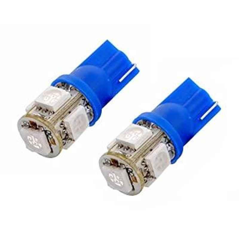 AOW 5 SMD (Blue) LED Parking Bulb Pilot Light/License Plate car Lights for Skoda Rapid (PAIR/DC-12V)