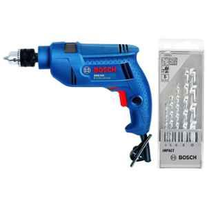 Bosch 500W Professional Impact Drill with 5 Pieces Drill Bit Set, GSB 501