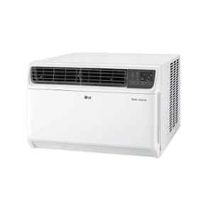 LG 1 Ton 5 Star Dual Inverter White Window AC with Ocean Black Protection, JW-Q12WUZA