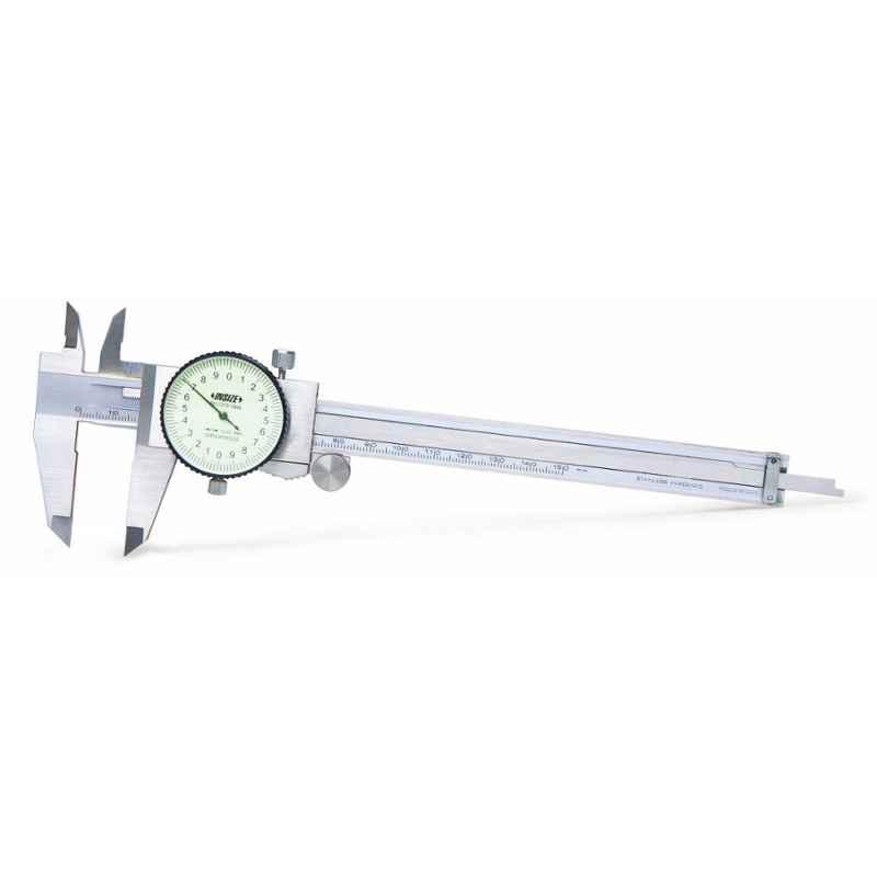 Insize Dial Caliper, Range: 0-150 mm, 1312-150A