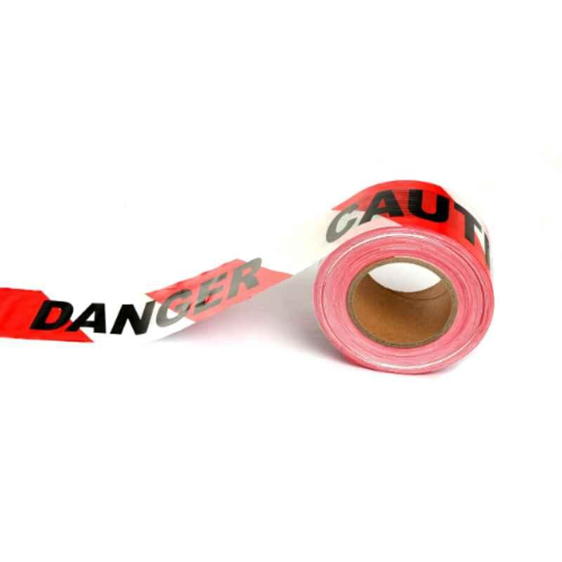 Darit ES-25 75mm Red & White Non Adhesive Polyethene Warning Tape, Length: 200 m