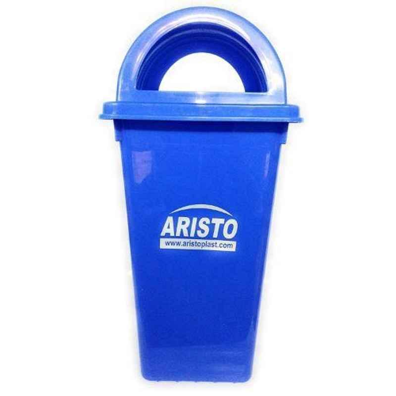 Aristo 60L Plastic Blue Dustbin with Dome Lid
