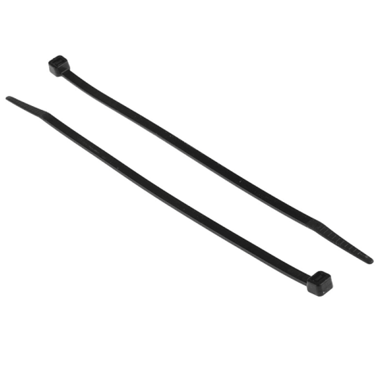 Aftec 250x4.8mm Black Nylon Non Releasable Cable Tie, ACTI 4.8-250