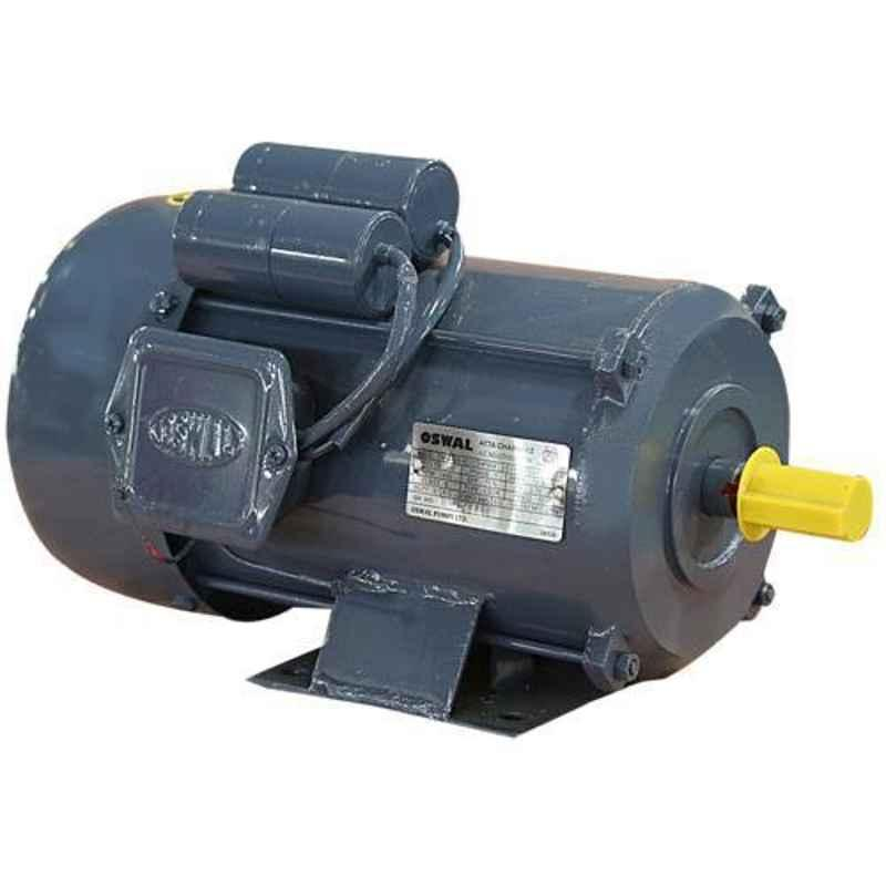 Oswal 1HP 1380rpm Single Phase Induction Electric Motor, OM-4-(SM)