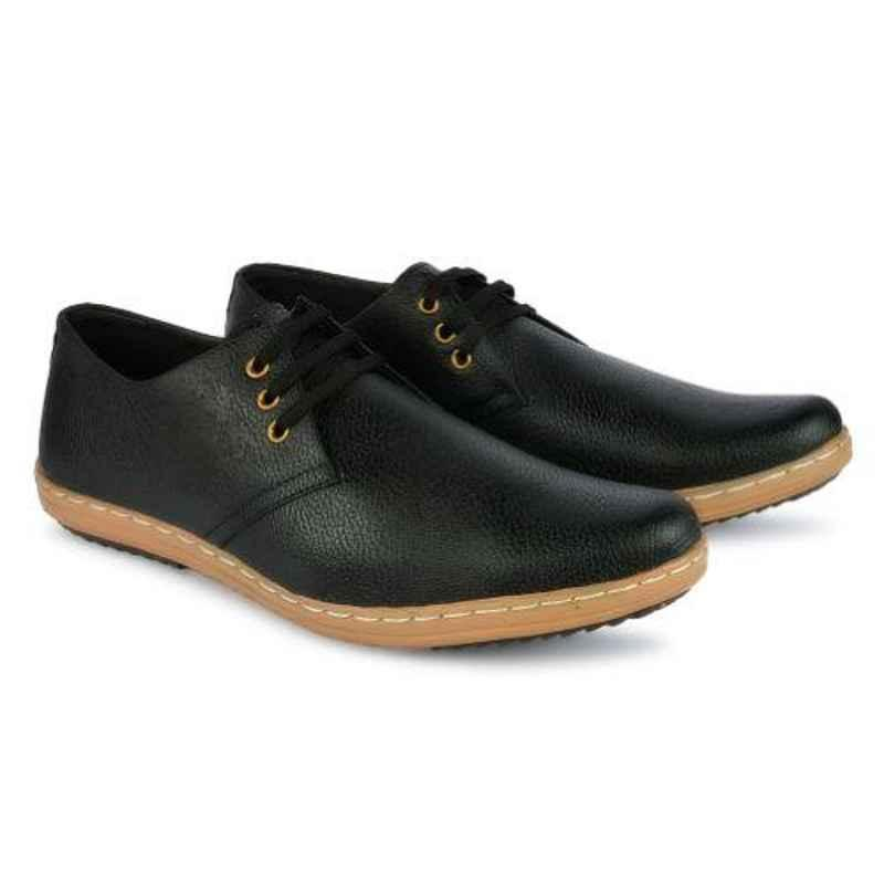 Mr Chief 974 Zara Black Smart Casual shoes for Men, Size: 9