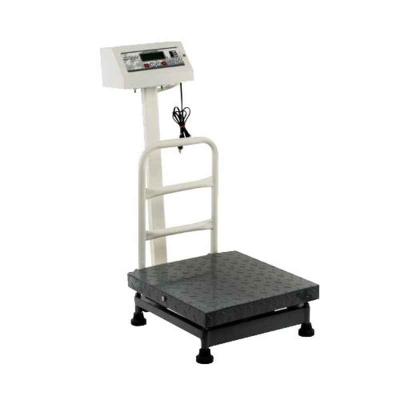 iScale 100kg and 10g Accuracy Industrial Heavy-Duty Weighing Machine with Mild Steel Platform and Double Display