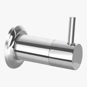 Kerovit Nucleus Silver Chrome Finish Concealed Stop Cock Trims with Flange, KB111032