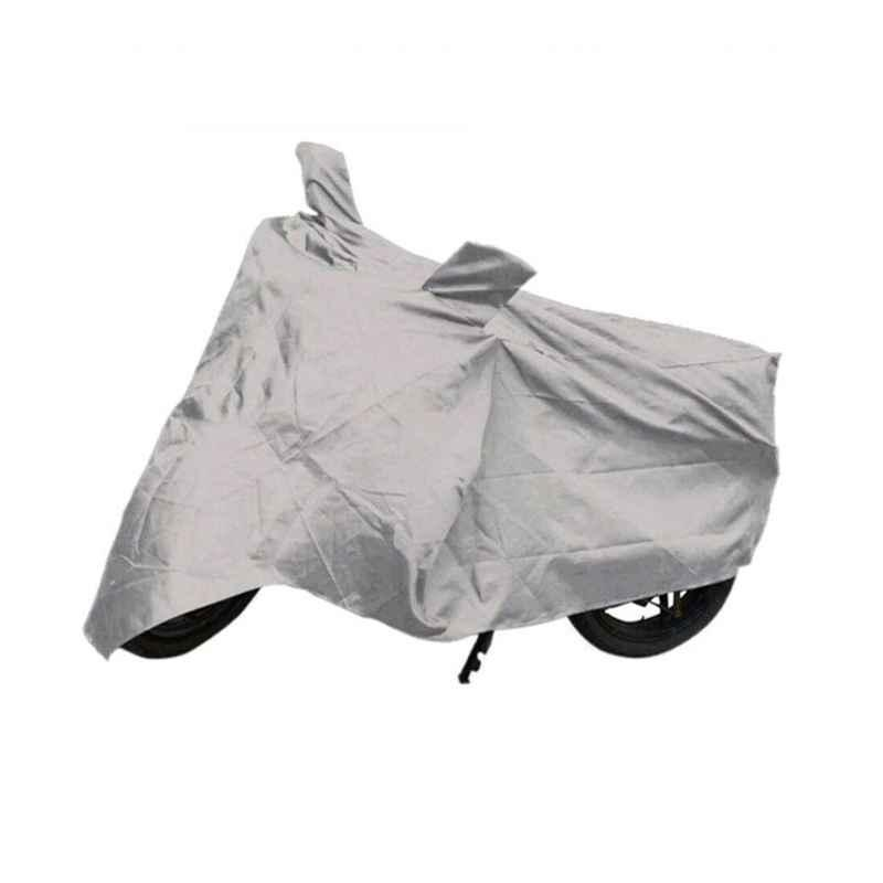 Love4Ride Silver Two Wheeler Cover for TVS Apache