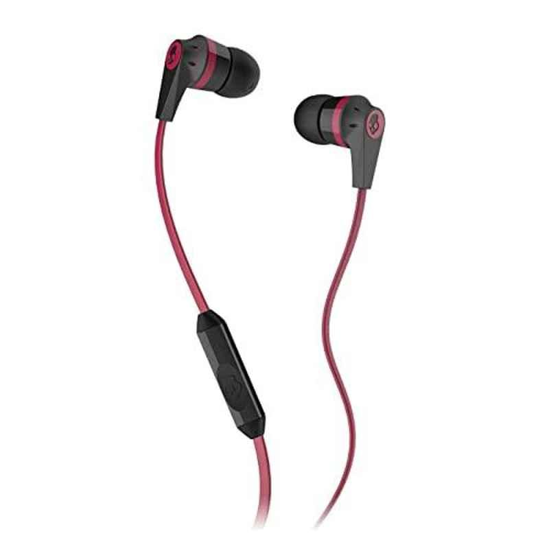 Skullcandy Ink'd Red & Black Wired in-Earphone with Mic, S2IKDY-010