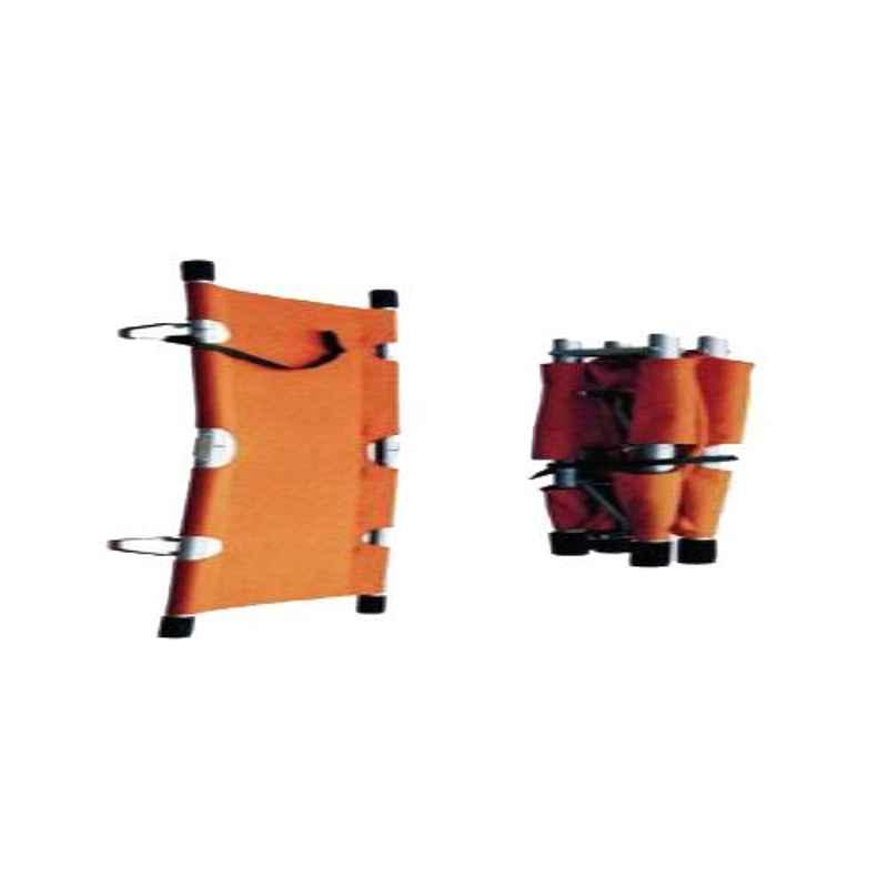 11 Enterprises 208x55x13cm Orange Double Fold Stretcher
