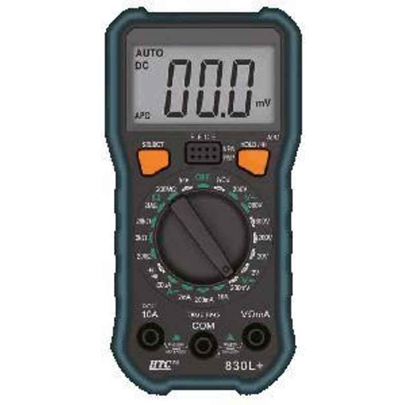 HTC 3 ½ Digit LCD Display 2000 COUNT Digital Multimeter DM-830L+