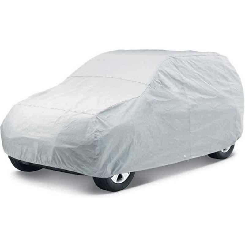 Love4Ride Silver Car Cover without Mirror Pocket for Renault Kwid